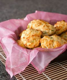 Cheddar and Green Onion Drop Biscuits: No rolling pin or cookie cutters required; just drop and bake.