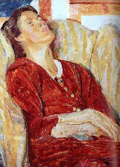 Duncan Grant / Portrait of Vanessa Bell in an Armchair, 1915