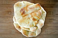 Homemade Rustic Pita Bread - Can use wheat flour instead of all-purpose.  I just made it with 1/3 wheat flour--super easy, super delicious.  Let the oven preheat all the way before rolling out the pitas!  Maybe add some garlic and rosemary next time, too.