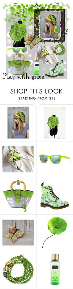 """""""Play with green"""" by filcalki ❤ liked on Polyvore featuring Handle, Oakley, Miu Miu, Dr. Martens, Hattie Carnegie, Betsey Johnson and Victoria's Secret"""