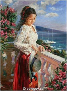 Artist Vladimir Volegov: Born in Chabarovsk,Russia,Vladimir began painting at the age of 3 & his talent would be noted repeatedly throughout his adolescence.