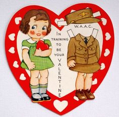 Vintage 1940s WAAC WWII Paper doll by BettyJanesTreasures on Etsy, $12.00