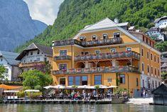 Hotel Gruner Baum in Hallstatt, Austria - A beautiful, lake-front hotel in this charming alpine village, located just an hour outside of Salzburg