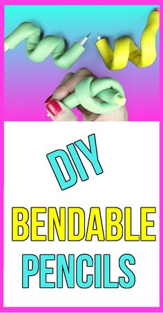DIY Bendable Pencils! Stress Pencils - Eraser & Pencil DIYs! Learn how to…