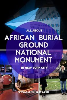 African Burial Ground National Monument in New York City offers the chance to see a modern archeological wonder in the heart of lower Manhattan National Park Lodges, Acadia National Park, National Parks, National Park Passport, Monument Park, New York Attractions, Park In New York, Passport Stamps, Travel Route