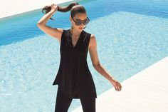 Sleeveless Top | Available in Black and White | Joseph Ribkoff Collection