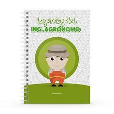 Cuaderno XL - Las notas del ingeniero agrónomo, encuentra este producto en nuestra tienda online y personalízalo con un nombre. Ideas Para, Fictional Characters, Christmas Flowers, Engineer, Notebooks, Report Cards, Store, Fantasy Characters