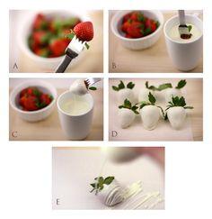 Strawberry-Tutorial_2.jpg (716×738) Birthday Desserts, Chocolate Covered Strawberries, Strawberry Recipes, Strawberry Dip, Recipes From Heaven, Mini Cakes, Sweet Desserts, Mini Desserts, Chocolate Cookies