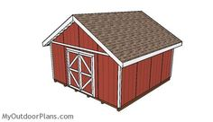 This step by step diy project is about 16x16 gable shed plans. I have designed this shed with a gable roof so you can store outdoor furniture and other items on your own property.