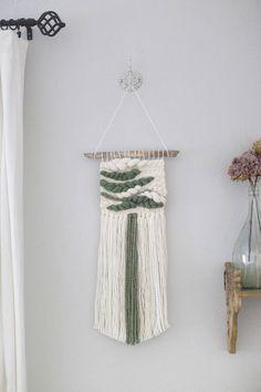 Sage wall hanging  weaving  MTO  woven wall hanging