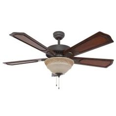 Sahara Fans Chesterton 52 in. Bronze Ceiling Fan-10047 at The Home Depot