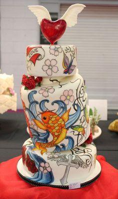 Tattoo wedding cake #cake #bodas #tattoo