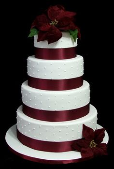 Beautiful Winter Themed Wedding Cake From City Cakes