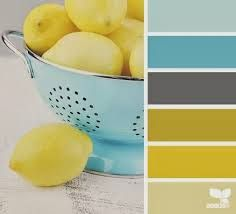 yellow teal gray