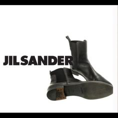 2010 Jill Sander Booties. In AMAZING condition. Pre-loved and well cared for Jill Sander black leather booties. City Girl boots to a T! Jill Sander Shoes Ankle Boots & Booties