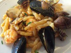 Pasta fresca com frutos do mar - Ristorante Scylla  - Sperlonga  #receitas #receitaitaliana #gastronomia #sperlonga #roma #mariscos #pastacomfrutosdomar #RistoranteScylla