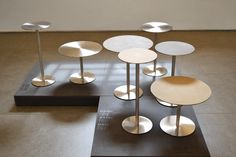 Stainless steel coffe tables. Clay finishing on the top #mg12 #fuorisalone2015 #milandesignweek2015 #coffeetable #stainlesssteel