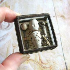 Pocket Museum  Glass Box Assemblage Curiosity Art by ComeDayGoDay, $48.00