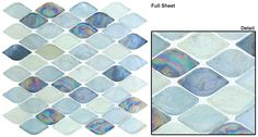 Mosaic prices are quoted per sheet. These stunning pieces will bring class and style to any space. Color: Rainbow Trout/ Glossy Spectrum/ Taupe Mississippi/ Misty Water/ Atlantis/ Grey Scale Full Mosa