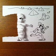 Você vai ficar de boca aberta com as ilustrações que este cara faz - Mega Curioso