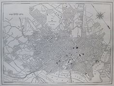 1926 Antique WASHINGTON DC  Map Black and White Vintage City  Map 2993