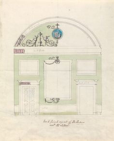 Headfort House, Ireland: Elevation of One End of the Parlor, between 1771 and 1775, by Robert Adam [Yale Center for British Art, Paul Mellon Collection]