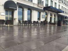 To ensure a perfect rain drainage ☔️ the @GHSardinero hotel chose Lyon 20MM series with #raisedflooring installation