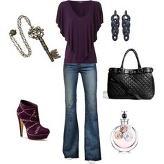 Cute, but I need to lose the shoes .. Plum flats :)