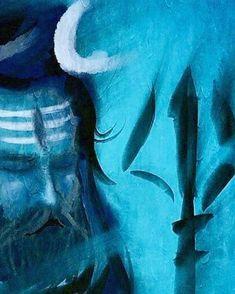Trishul, Lord Mahadev, Religious Paintings, Shiva Shakti, Instagram Artist, Hindu Art, Lord Shiva, Ganesha, Cute Drawings