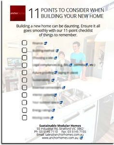 Not sure if you've considered everything when building your new home? A handy checklist is only a few clicks away.