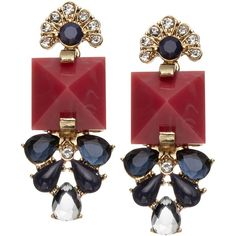 Accessorize Maisie Jewel Earrings (1.285 RUB) ❤ liked on Polyvore featuring jewelry, earrings, accessories, red, red earrings, earrings jewelry, jewel earrings, jeweled earrings and accessorize earrings