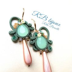Soutache Earrings, Ring Earrings, Turquoise Bracelet, Macrame, Bracelets, Ear Rings, Necklaces, Soutache Jewelry, Easter