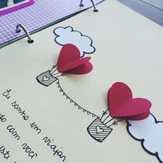 Heart hot air balloons.... washi tape ideas