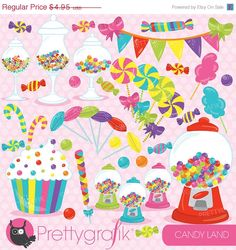 80 OFF SALE Candy clipart commercial use by Prettygrafikdesign  https://www.etsy.com/listing/204028626/80-off-sale-candy-clipart-commercial-use?ref=shop_home_active_22