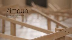 Zimoun investit les espaces du Centquatre avec ses sculptures sonores pour sa plus grande exposition en France et dans le monde. Constituées de petits objets (cartons, balles, petits moteurs…), ses œuvres souvent monumentales emplissent pourtant l'espace et en modifient notre perception. Neuf pièces au total seront présentées.