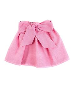 Look what I found on #zulily! Rose Sash Chambray Skirt - Infant, Toddler & Girls #zulilyfinds
