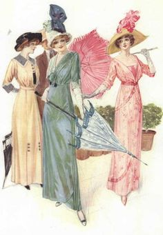 Dresses, 1912 US, the Delineator