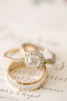 View entire slideshow: Gold Engagement Rings That Will Make You Forget About Platinum on http://www.stylemepretty.com/collection/2421/