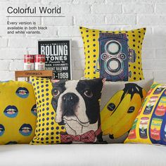 Cheap throw pillows, Buy Quality decorative throw pillows directly from China seat pillow Suppliers: vintage yellow pop decorative throw pillows living room couch pillows seat floor floral chair cushions outdoor seat pillow Sofa Throw Pillows, Linen Pillows, Floor Pillows, Chair Cushions, Yellow Cushion Covers, Yellow Cushions, Hug Pillow, Cover Pillow, Zen
