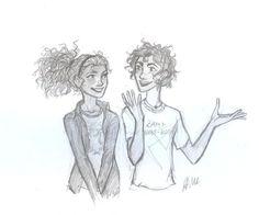 Leo and Hazel by drakonarinka. hazel looks so cute!