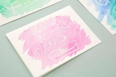 How to Make Watercolor Cards That Reveal a Secret Message via Brit + Co