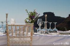 Setting up for Natasha and Andrei's Vintage Lavender Wedding in Santorini Dana Villas, Garnet Wedding, Dream Wedding, Wedding Day, Santorini Wedding, Wedding Details, Wedding Venues, Lavender, Flowers
