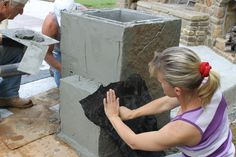 Little Rock Vertical Concrete Stamping