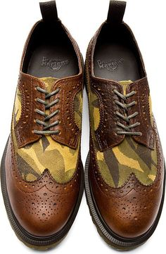 Dr. Martens Brown Leather & Suede 3989 Brogues