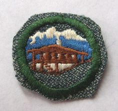 Vintage 1947 Girl Scout WORLD NEIGHBOR BADGE Wide World Our Chalet Patch #BadgesPatches