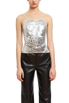 Callipygian | Sequin Dress | Opening Ceremony Sequin Top, Sequin Dress, Sparkly Mini Dress, Jersey Tops, Opening Ceremony, Size Model, Camisole Top, Sequins, Clothes For Women