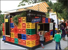 We love the idea of building a kids cubby out of milk crates!