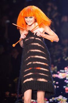 By Jean-Paul Gaultier, in hommage to Sonia Rykiel