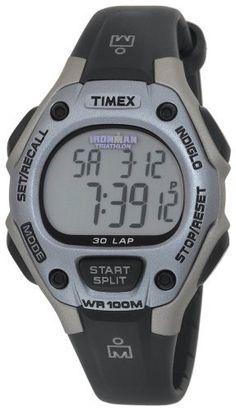 Timex Women's T5E971 Ironman Traditional 30-Lap Black/Silver-Tone/Purple Resin Strap Watch Timex. $35.28