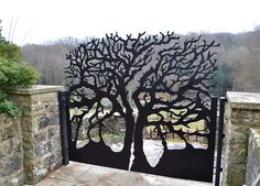 Rohan garden gates made of laser-cut steel # .- Rohan Gartentore aus lasergeschnittenem Stahl Rohan garden gates made of laser-cut steel ideas - Metal Garden Gates, Metal Gates, Metal Screen, Garden Doors, Iron Gates, Metal Cortado A Laser, Yard Art, Tor Design, Laser Cut Steel